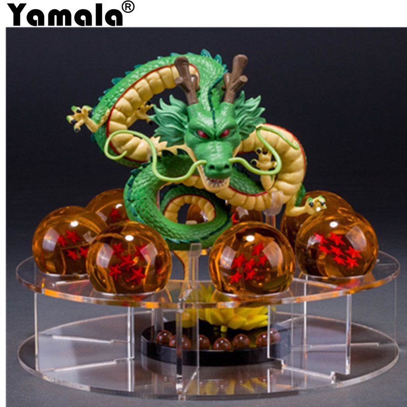[Yamala] Dragon ball z toy action figures New Dragonball figures 1 figure dragon shenlong +crystal balls +  shelf brinquedos 4pcs new for ball uff bes m18mg noc80b s04g