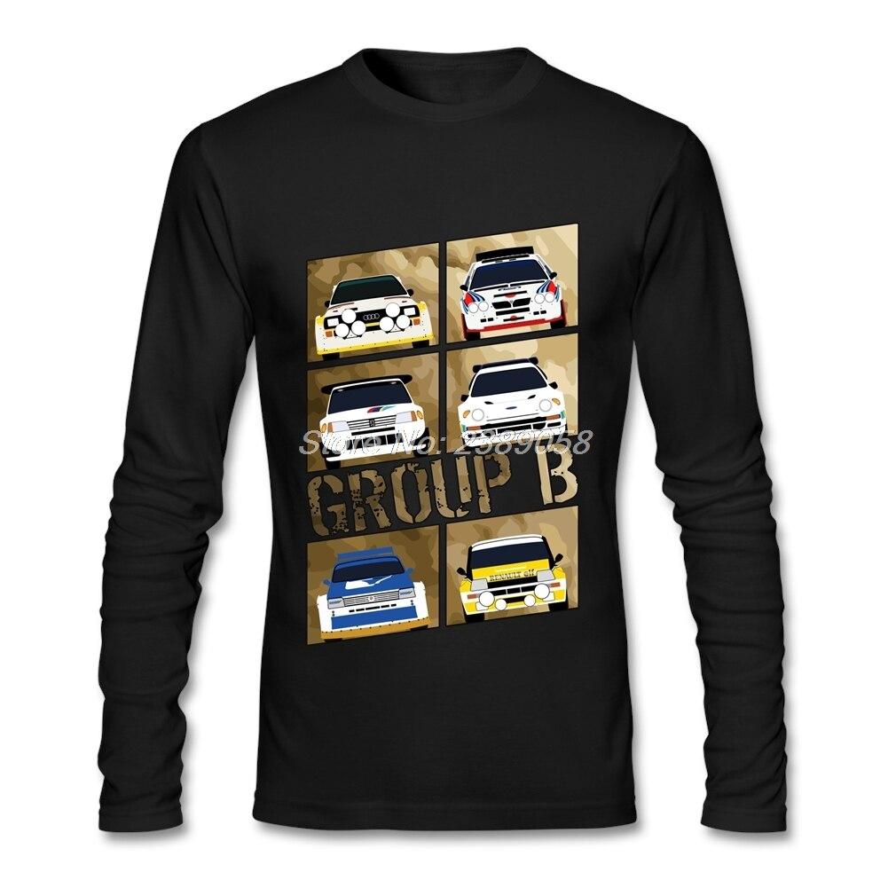 Shirt design contest 2017 - 2017 Men T Shirt Design Group B Cheap Graphic Rally Car T Shirt Father Gift Long