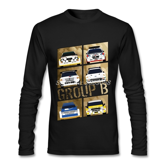 2017 Men T Shirt Design Group B Cheap Graphic Rally Car T Shirt