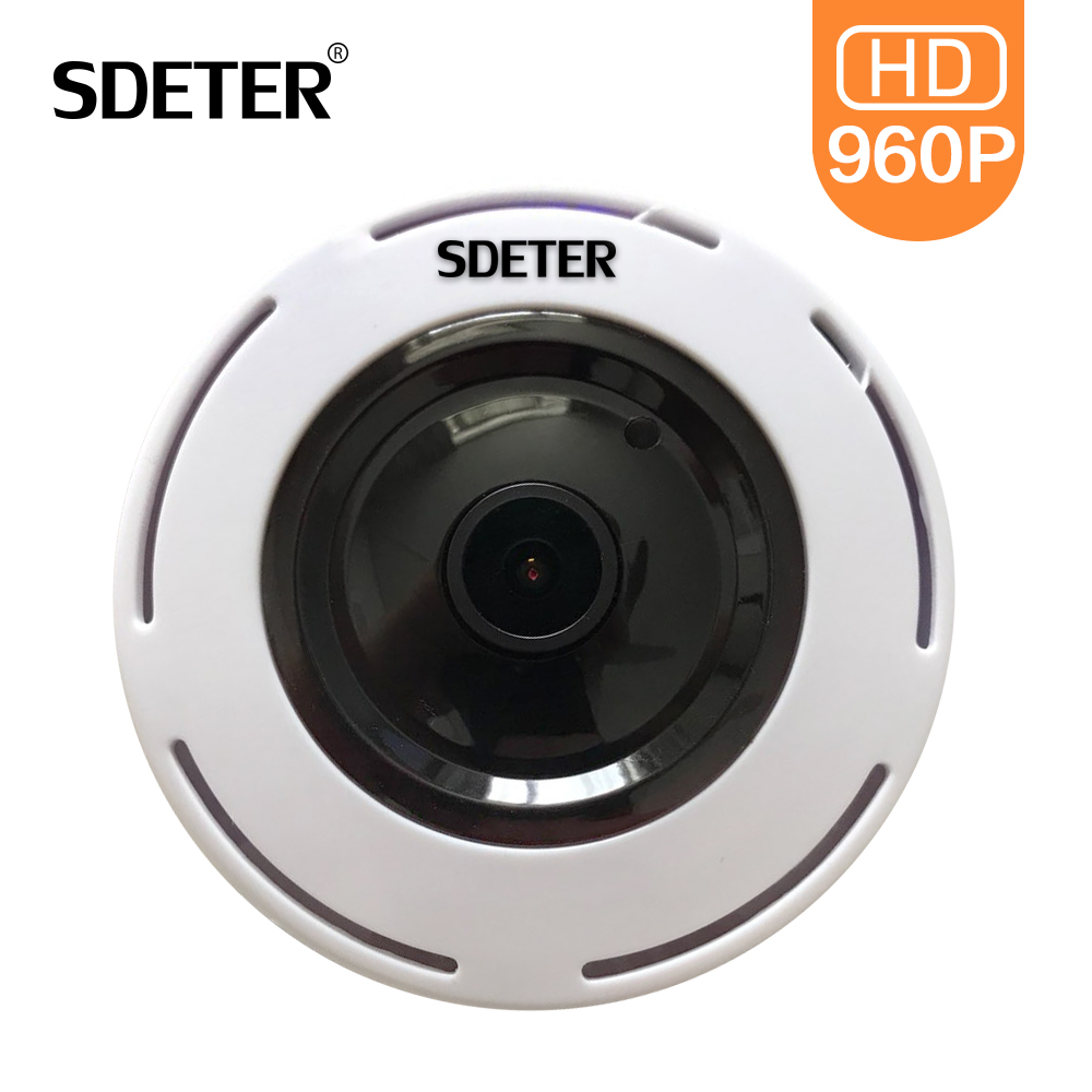 SDETER FishEye 960P 360 Degree CCTV IP Camera Network Home Security Camera WIFI Panoramic IR Night Vision Surveillance Camera IP mini hd 360 degree fisheye panoramic analog high definition surveillance camera module security indoor ir night vision