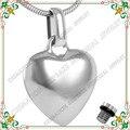 CMJ8100 Joyas Cremación Urnas Para Mascotas de Acero Inoxidable 316L Collar Colgante de Joyería de Moda Forma de Corazón recuerdo cenizas