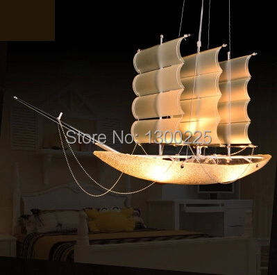 Online Shop Personality style sailing boat pendant lights Novelty