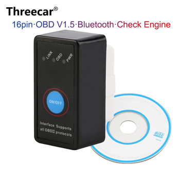 Universal OBD2 ELM327 V1.5 Scanner Auto OBDII Scan Tool Car Code Scanner with Switch for Android Symbian Windows image
