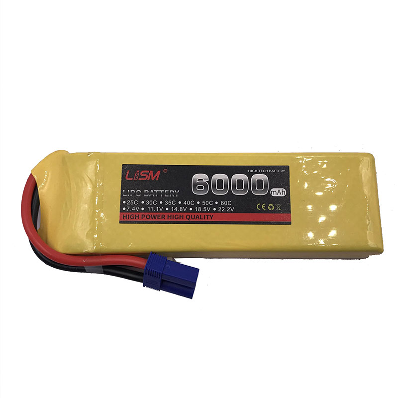 7.4V <font><b>6000MAH</b></font> 25C <font><b>2S</b></font> TPlug <font><b>Lipo</b></font> Battery For RC Drone Models Helicopters Airplanes Cars Boat Batteria #30Y32 image