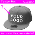 10 pcs/lot polyester 3d embroidery logo small order boy's custom cap