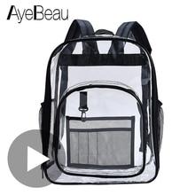 Children Clear Transparent Backpack School Feminina Bag Women Men Female Male Bagpack Schoolbag For Girl Boy Back Pack Sac A Dos недорого