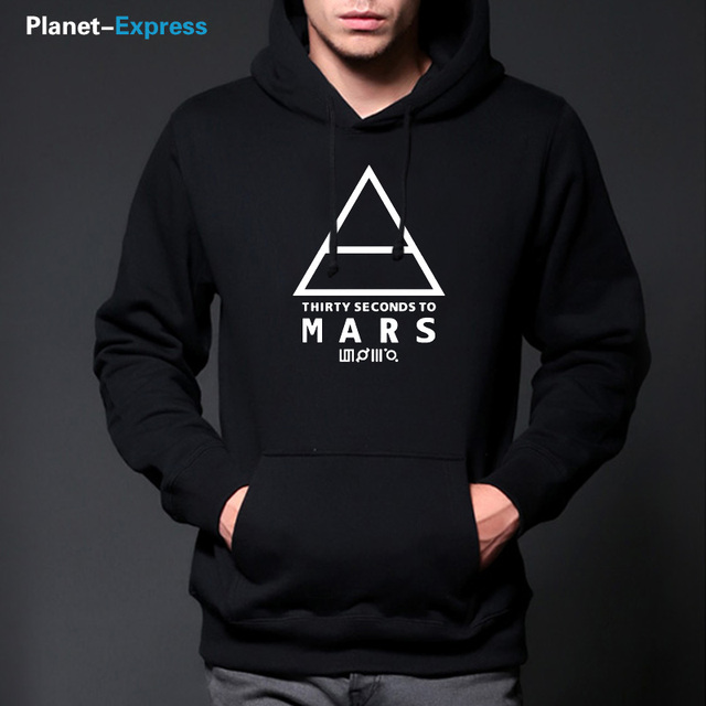 Autumn New 30 Seconds To Mars Hoodies Men On His Face Is a Map of