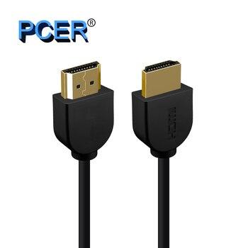 Ultra İnce HDMI 4 K 2.0 Kablo 3840*2160 P çözünürlük 30Hz 60Hz Kablosu HDMI 1.5 M 3 M 5 M Hdmi Kablosu Ultra HD 3D Görüntü Altın Kaplama PCER