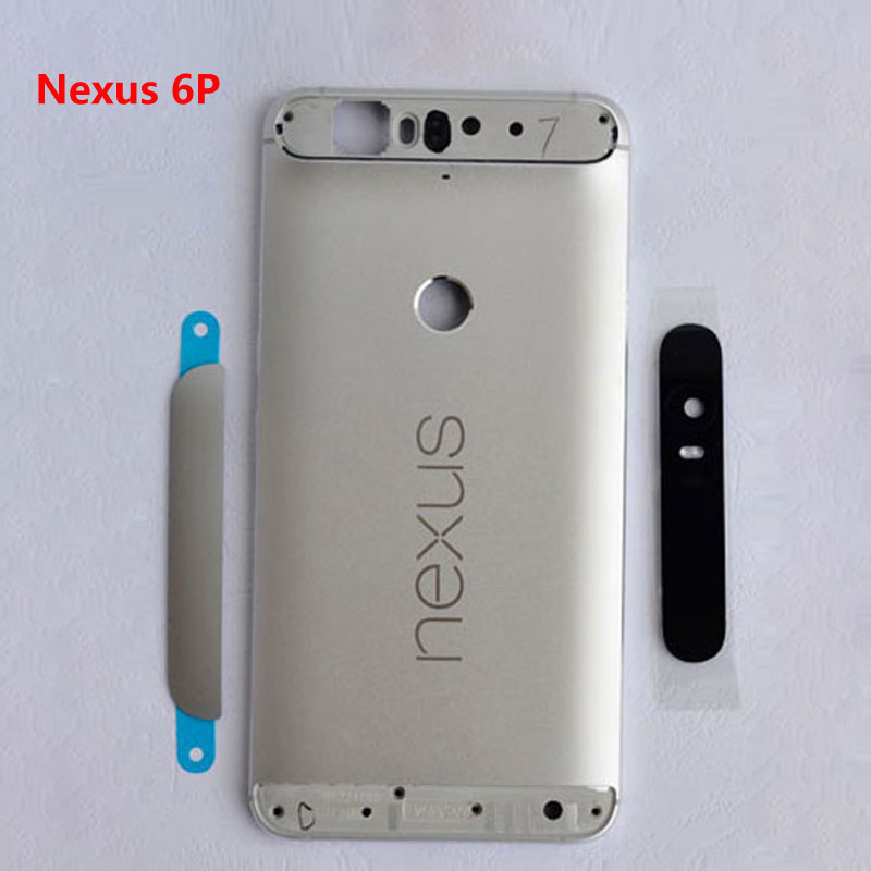 For Huawei Google Nexus 6P Metal Rear Housing Battery Cover Case Back With Side Keys + Camera Lens