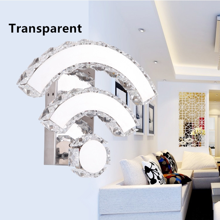Luxury Modern Wall Sconces Lighting Crystal Wall lights WIFI design Bedside lamps in bedroom цена 2017