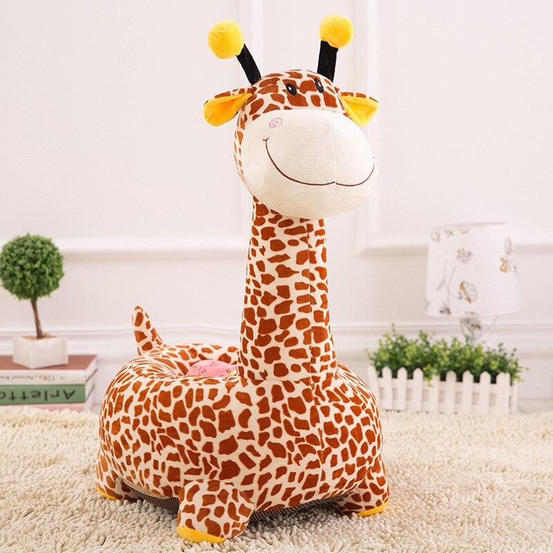 все цены на Cartoon Giraffe Cute Child Seat PP Cotton Plush Soft Baby Sofa Infant Matching Removable Baby Sofa Chair Juguetes Kids Soft Toys онлайн