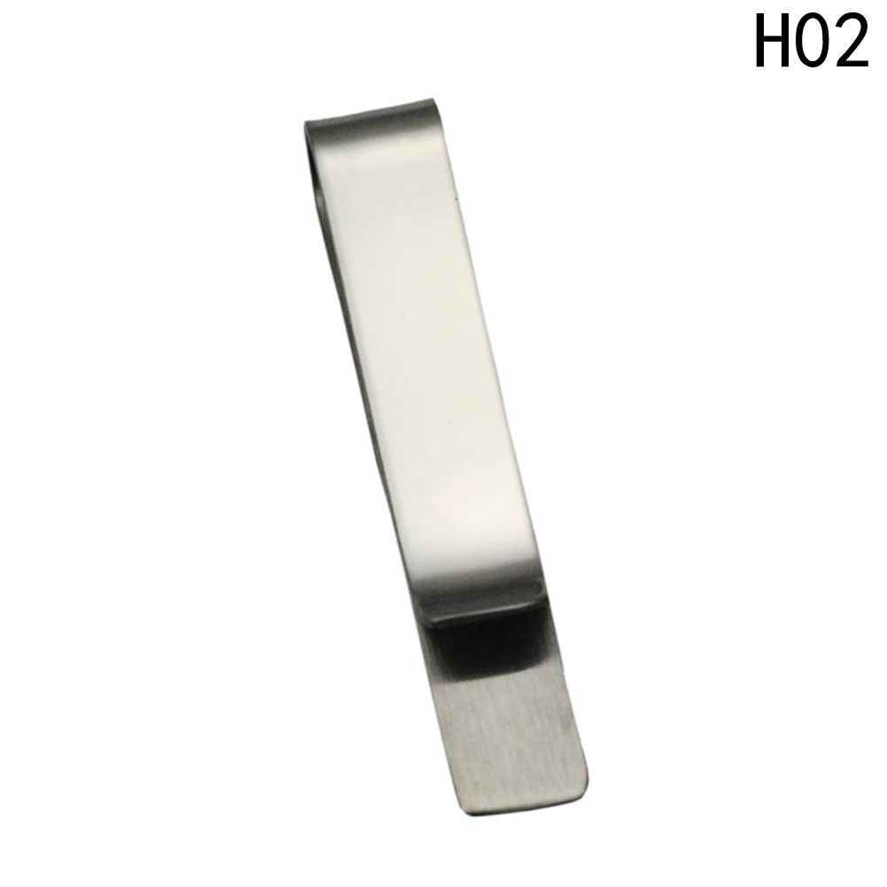 MoAndy Stainless Steel Tie Bar Clip for Men Rectangle for Wedding Business Silver