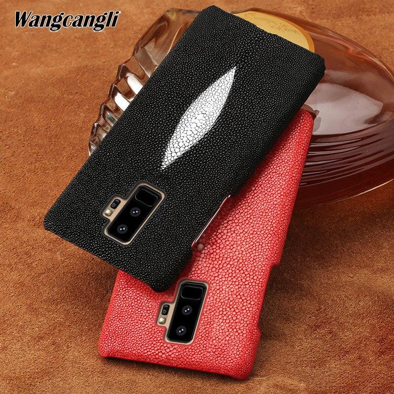 Perle demi-pack étui de téléphone portable étui de téléphone portable pour Samsung galaxy S9 étui personnalisé en cuir perle coque de téléphone pour galaxy S8