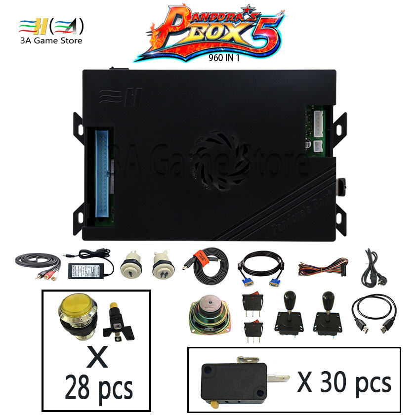 Pandora box 5 960 games Pandora's Box 5 960 in 1 Joysticks Arcade Stick button set joystick diy arcade controls machine parts sanwa button and joystick use in video game console with multi games 520 in 1