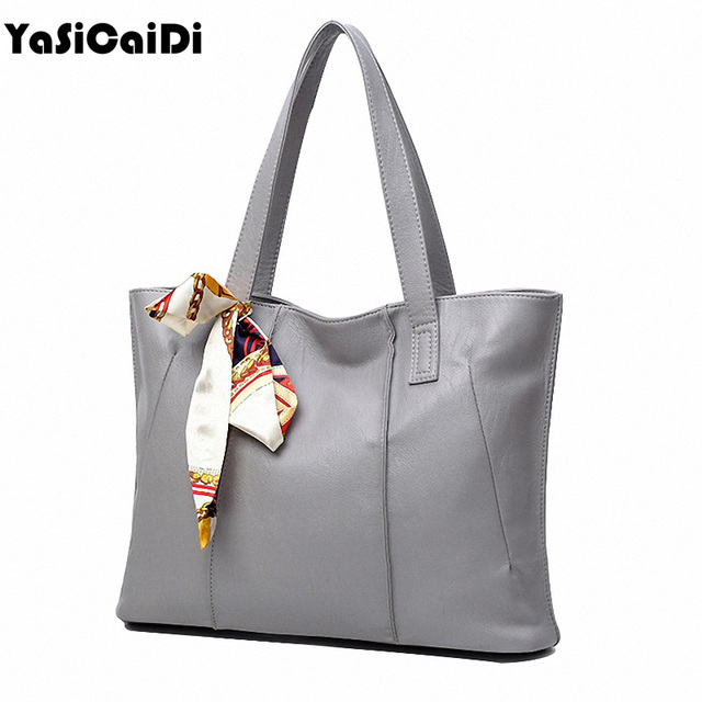 2017 Luxury Leather Women Bags Woman Casual Tote Fashion Ribbons Ladies High Quality Pu Leather Handbags Women Large Tote Bag