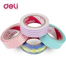 Deli Cute Kawaii stripe Japanese Masking Washi Tape Decorative Adhesive Decora Diy Scrapbooking Sticker Label Stationery