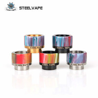 Steelvape бренд смолы 810 Распылитель потека для электронных сигарет RDA танк широкий диаметр мундштук для Sebone Tailspin Vape