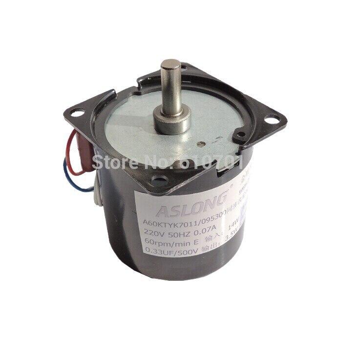 цена на Center axle 220VAC Rotate Speed Reduction Electric AC Gear reduction synchronous motor 60KTYZ 14W 50Hz CW/CCW