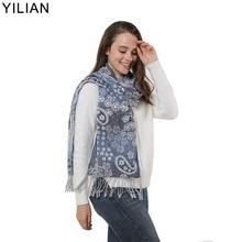 YILIAN Brand Tassel Bubble Flower Women Scarf Folds Elastic Fashion Designer Newest Lady Paisley Top Quality SF1154