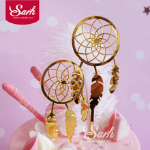 Cake-Topper Party-Decoration Dreamcatcher-Collection Acrylic Gold Small Big for Dessert