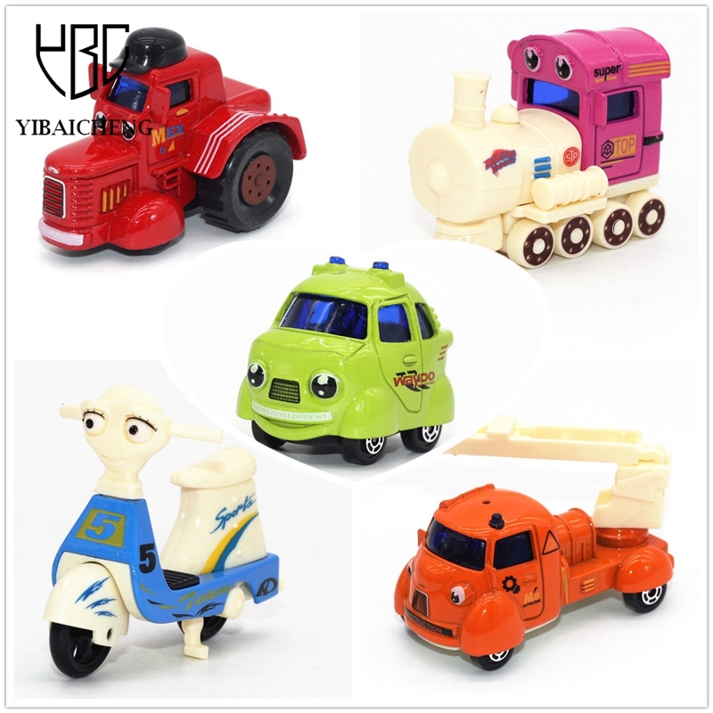 1:64 3 Pcs/Set 6 Pcs/Set Alloy Q Edition Cartoon Mini Cars Model Diecast Alloy Interactive Toys Cars Set Kids Baby Children Gift