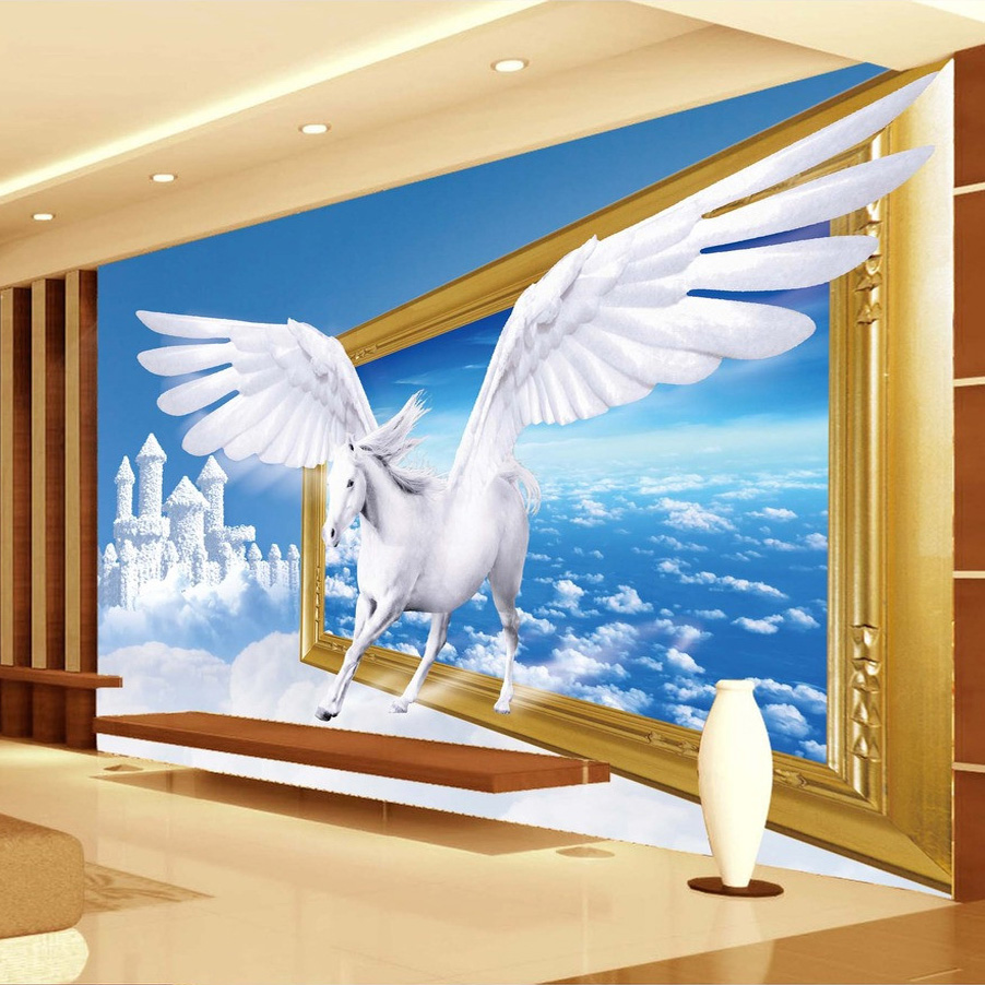 Online get cheap horse wall murals for Cheap mural wallpaper
