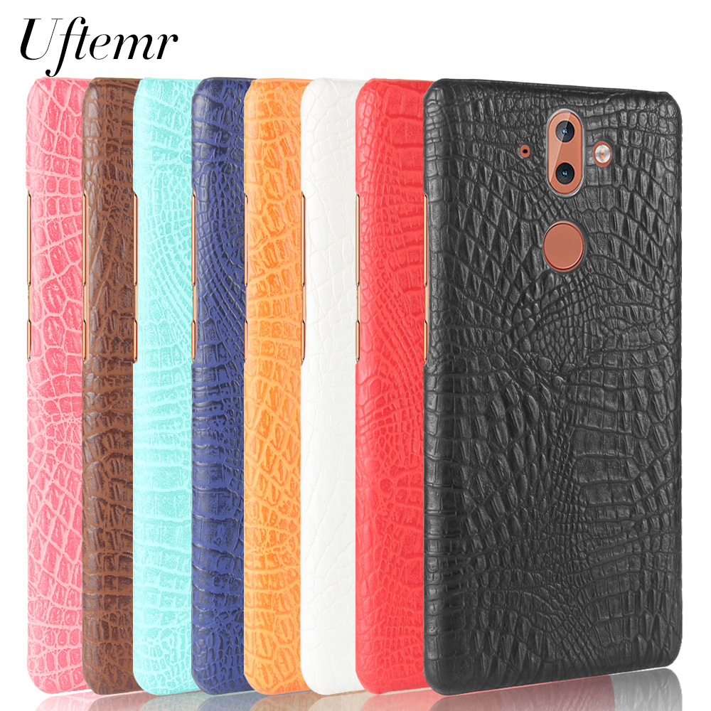 Uftemr Case for Nokia 8 Sirocco Crocodile PU Leather Back Cover Hard Plastic PC Phone Cases for Nokia 8 Sirocco Acessories