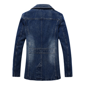 Image 4 - 2018 jaqueta masculina Retro Denim jacket men Spring Turn Down Collar jacket mens classic outwear jean jackets coat plus size