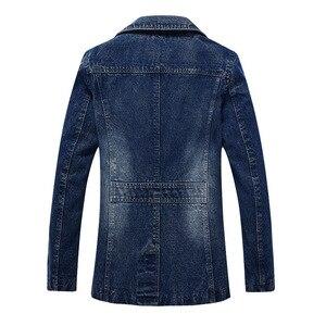 Image 4 - 2018 jaqueta masculina Retro kurtka dżinsowa mężczyźni wiosna skręcić w dół kołnierz kurtka męska klasyczne znosić kurtki dżinsowe płaszcz plus rozmiar