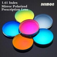 1.61 Index Aspheric Polarized Sunglasses Prescription Lens CR-39 Myopia Presbyopia UV400 Bright Mirror Lens 2 PCS RS615
