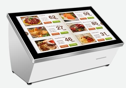 42 inch mall hotel restaurant kiosk camera id ic card for Sideboard qr