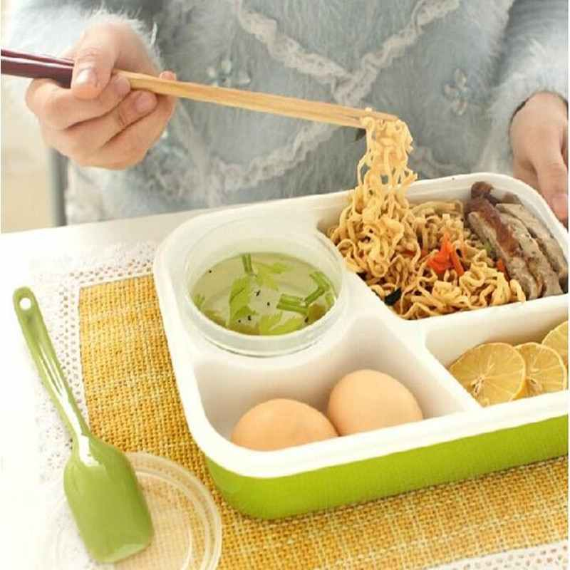 Plastic Lunch Boxes Food Container Colorful Microwaveable Lunch Bento Box Dinner Kids Picnic Home Supply Creative Box