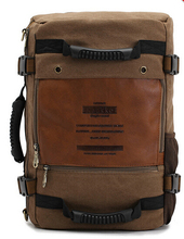 Free shipping multifunction KAUKKO men's canvas army style shoulder bag Travel tactical backpacks military 3 ways
