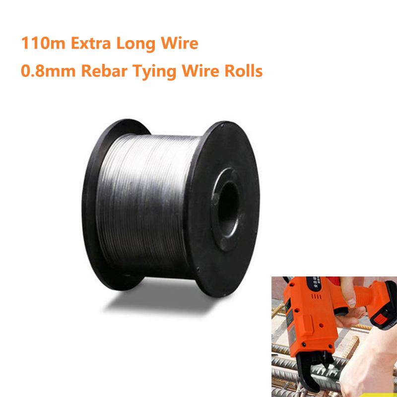 0.8mm 110M Roll Wire Iron Wire For Rebar Tying Machine Electric Rebar Tier 1/2/3/4 Wire Rolls