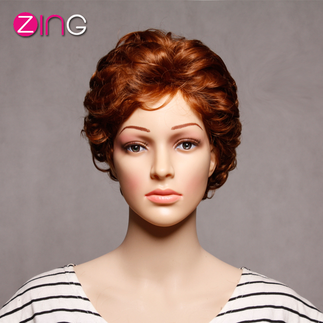 China Zing Rosa Hair Short Wigs For Women Heat Resistant Synthetic Women's Wig Brown Color Love Live Cospaly Pelucas Sinteticas
