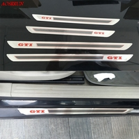 Stainless Steel Door Sill Scuff Guards Sills Plate Sticker Covers Trim For VW Volkswagen Golf 4