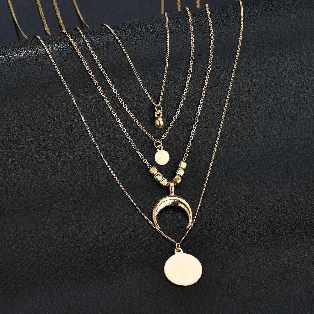 Stilvolle Wilde Halskette Boho Kleidung Zubehör Halskette Trendy Schmuck Halsband Halskette Für Frauen Lange Star Gold Silber LX L0325
