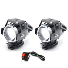 Cafe racer LED Headlight spot Fog Light Assembly Lamp motorcycle for honda x adv vfr 800 shadow 600 cbr 750 nc750x crf cr 125(China)
