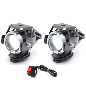 Cafe racer LED Headlight spot Fog Light Assembly Lamp motorcycle for honda x adv vfr 800 shadow 600 cbr 750 nc750x crf cr 125 image