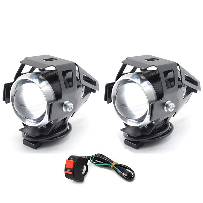 Cafe racer LED Headlight spot Fog <font><b>Light</b></font> Assembly Lamp motorcycle for <font><b>honda</b></font> x adv vfr 800 shadow 600 cbr 750 <font><b>nc750x</b></font> crf cr 125 image