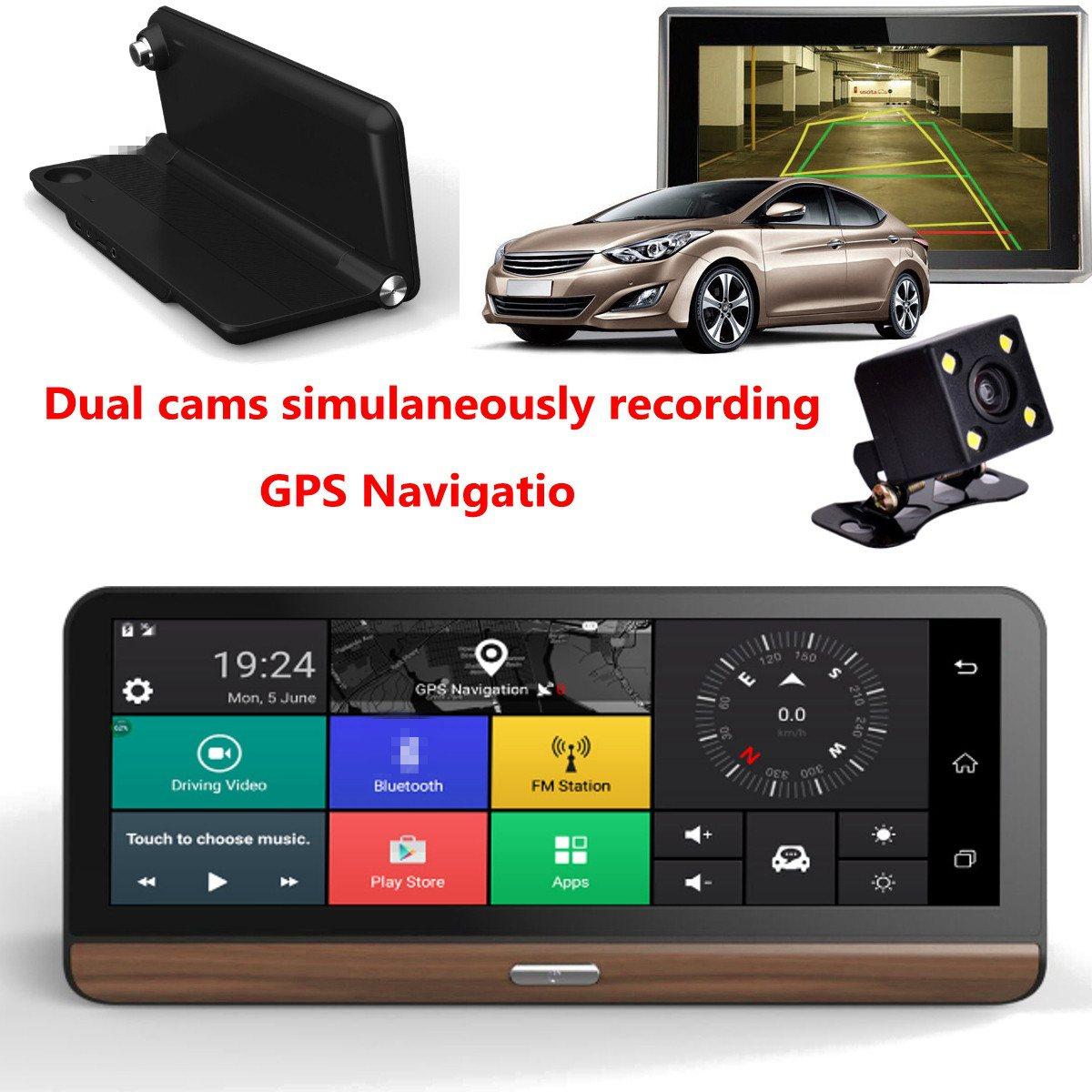 KROAK 8'' Touch Screen 4G Wifi Dual Car Dashboard Camera HD 1080P Car DVR Video GPS Rearview G-Sensor With EU+AU/US Map learning carpets us map carpet lc 201