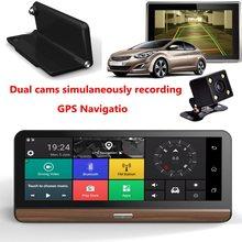 """Buy KROAK 8"""" Touch Screen 4G Wifi Dual Car Dashboard Camera HD 1080P Car DVR Video GPS Rearview G-Sensor With EU+AU/US Map"""
