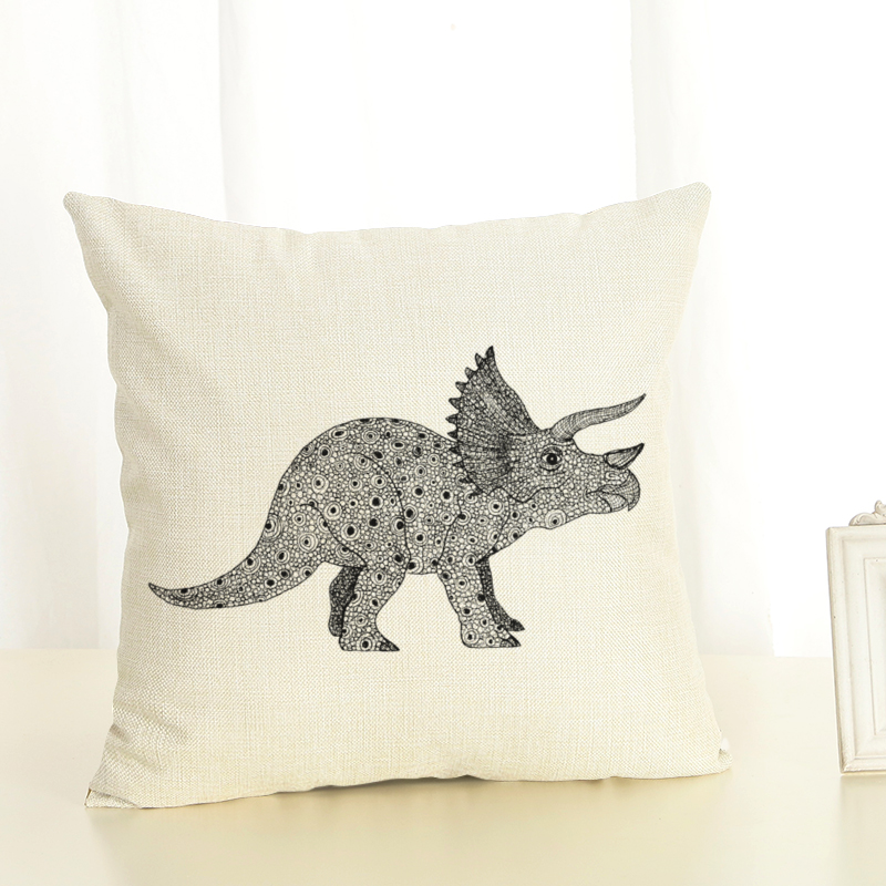 Dinosaur Decorative Pillow Cover