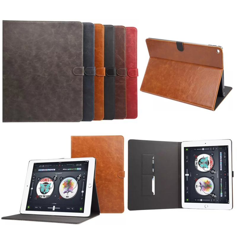 For iPad Pro 12.9 Case Luxury PU Leather Stand Tablet Accessories Covers Cases for iPad Pro 12.9 Inch Fundas Magnetic Holder 12mm waterproof soprano concert ukulele bag case backpack 23 24 26 inch ukelele beige mini guitar accessories gig pu leather