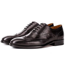QYFCIOUFU Luxury Designer Brogue Mens Dress Shoes Genuine Leather Pointed Toe Men Party Wedding Shoes High Quality Oxford Shoes