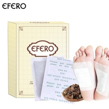 EFERO 10Pcs Detox Foot Patch Patches Cleaning Pads Body Feet Care Stress Relief Better Health Sleep