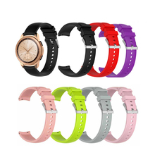 цена на Silicone Strap Replacement For Samsung Galaxy Watch Active R500 Straight Stripe Wristband Waterproof Watchband  40mm 1eh