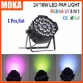 Outdoor Indoor Pro Disco Bar Effect Light Par LED 24 x 18W RGBWA UV 6 in 1