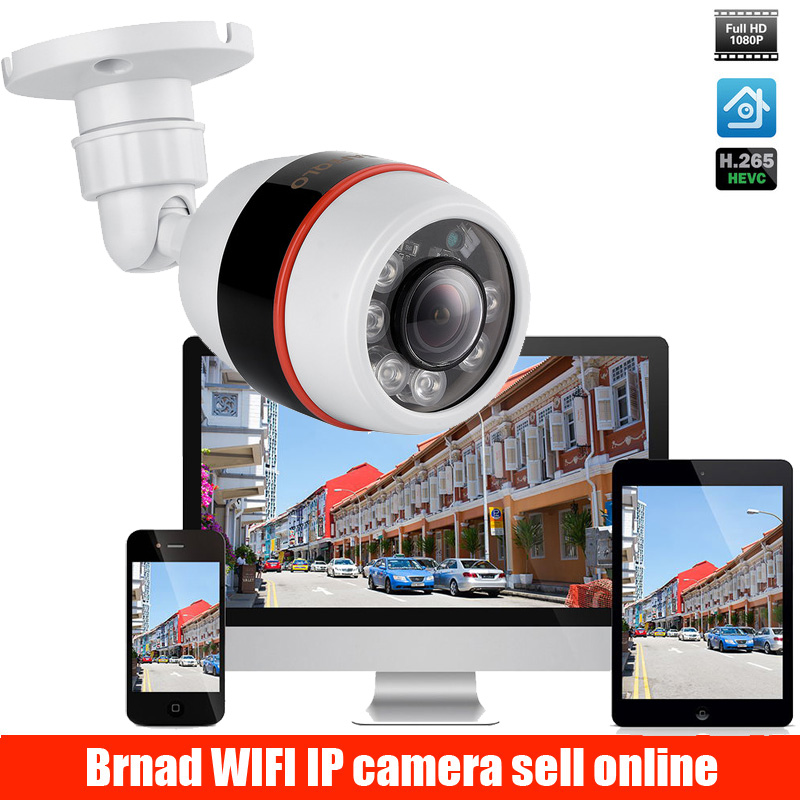 Wide Angle 1.8mm Outdoor IP Camera PoE 1080P 960P 720P ABS Case ONVIF Security Waterproof IP Camera CCTV 6PCS ARRAY LED