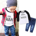 2PCS Kids Baby Toddler Boy Clothes Set T-shirt Pants Jeans Outfits Winter baby clothing Kids Boys girl Clothing Set